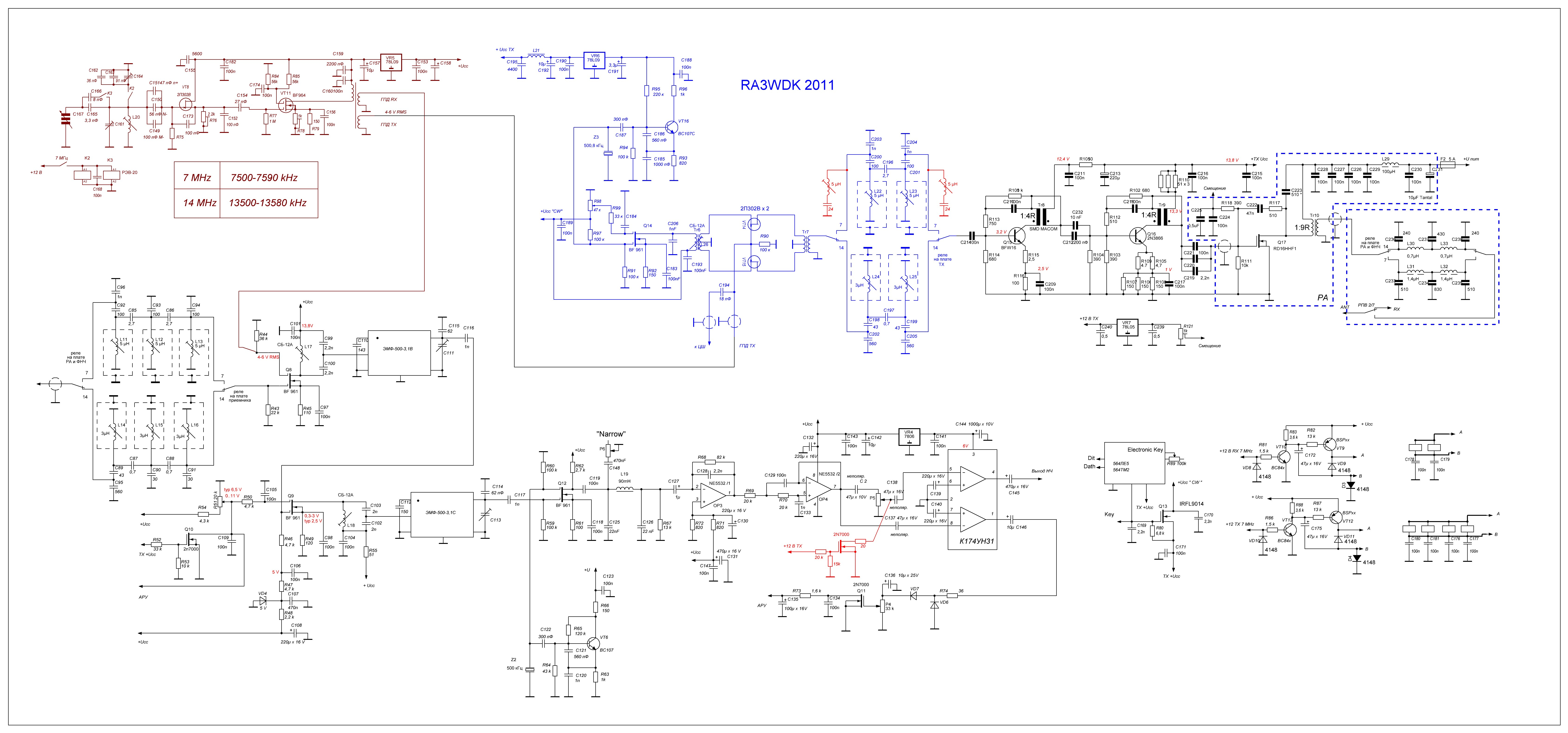 Ra3wdk Home Page 144mhz Power Amplifier Circuit Full Schematic Diagram Modifications