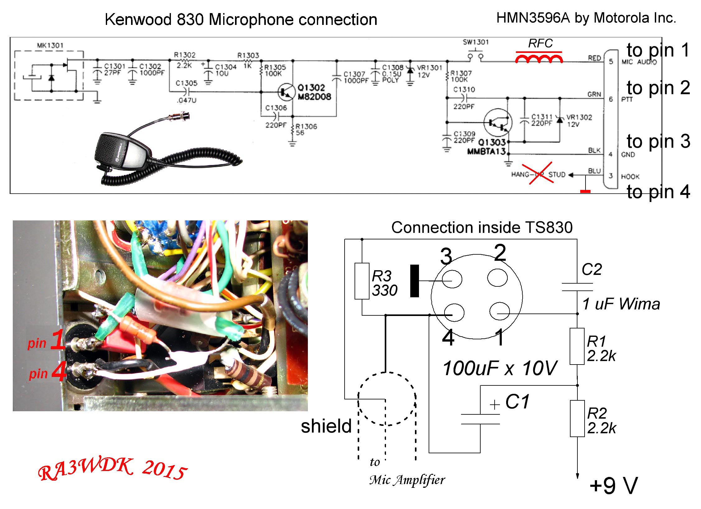 Mic Wiring Diagram Kenwood Ts 830 Wire Center Ts830 Ra3wdk Home Page Rh Qrz Ru Microphone Jack